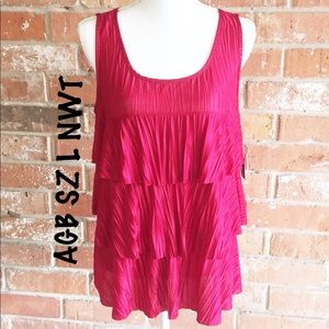 Beautiful Shimmering Layered Top By AGB NWT SZ L